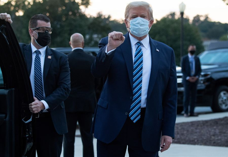 طبيب البيت الأبيض: ترامب لم يعد يشكل خطراً لنقل عدوى