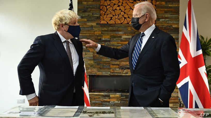 بعد أول لقاء مع بايدن.. جونسون يصف العلاقة مع أميركا أنها