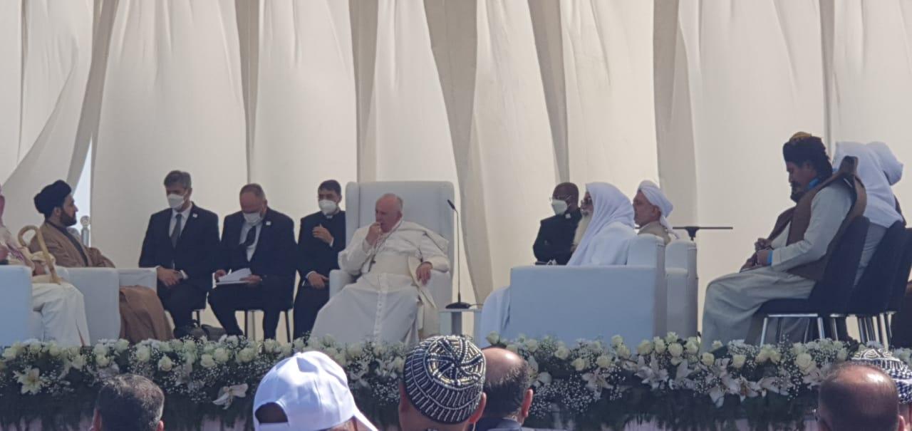 التسامح ونبذ الارهاب.. ابرز ماجاء في كلمة البابا خلال زيارته مهد الانبياء
