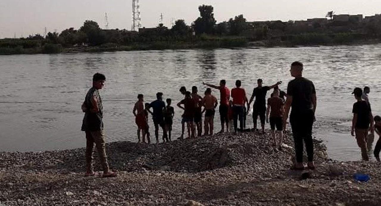 انتشال جثث ثلاثة اطفال من نهر دجلة شمالي صلاح الدين