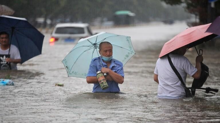 الصين تغرق بالأمطار